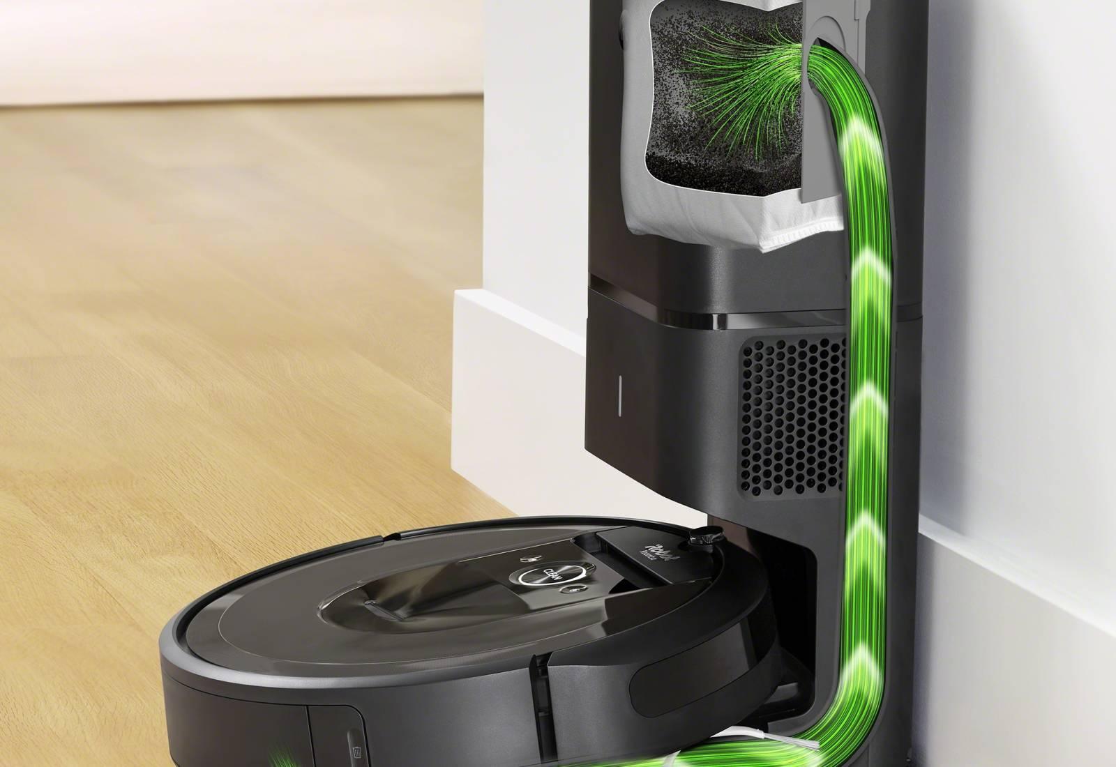 Immagine Roomba i7+, il robot aspirapolvere che si svuota da solo 2